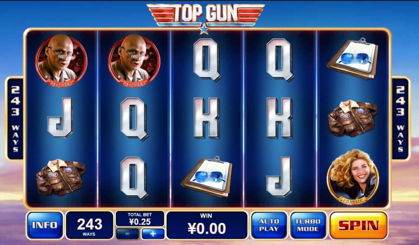 หมวดหมู่เกม PlayTech เกมสล็อต-top-gun