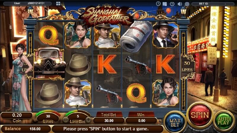 เกมสล็อต SA Gaming The Shanghai Godfather